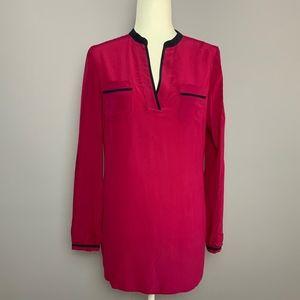 Tory Burch Pink Tamara Silk Tunic
